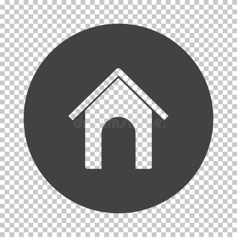 Dog house icon. Subtract stencil design on tranparency grid. Vector illustration vector illustration