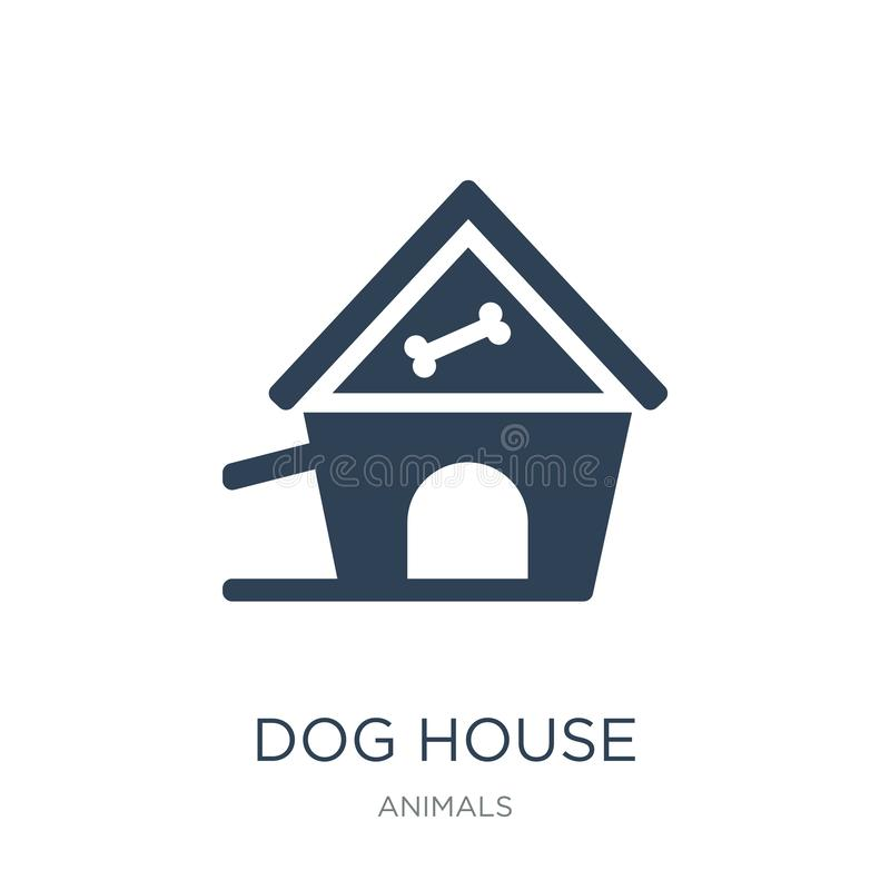dog house icon in trendy design style. dog house icon isolated on white background. dog house vector icon simple and modern flat vector illustration