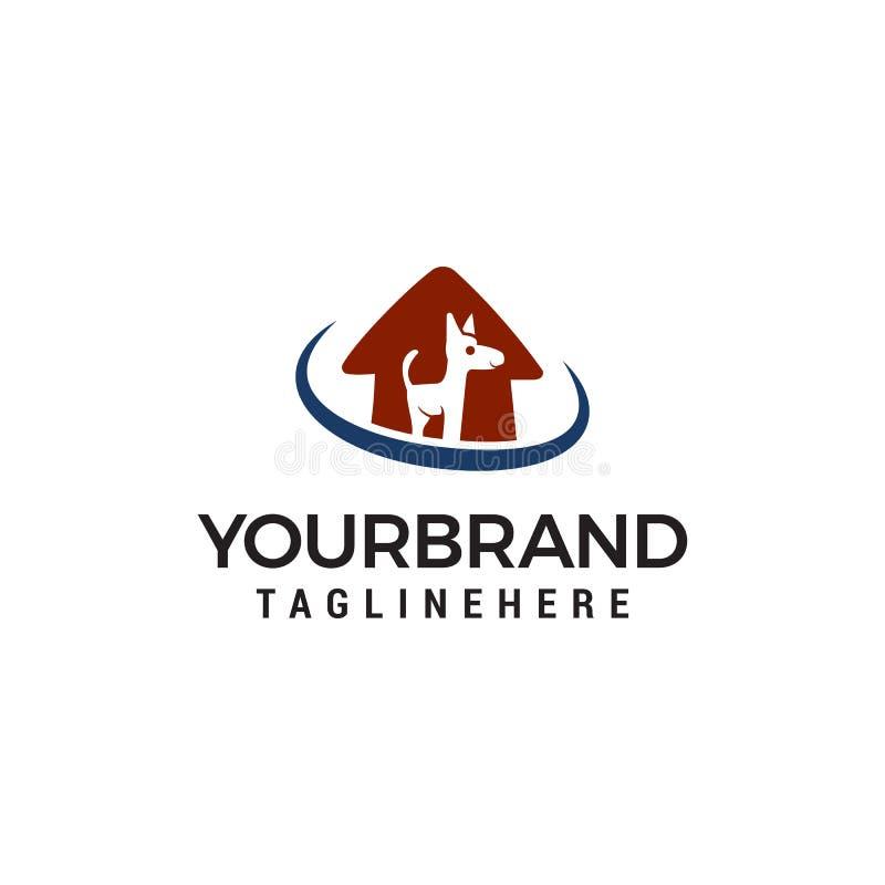 Dog House Logo. Animal care logo design template vector illustration