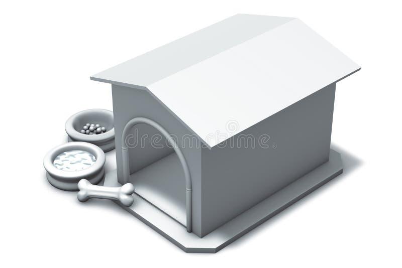 Download Dog kennel and bone stock illustration. Image of animal - 13487836