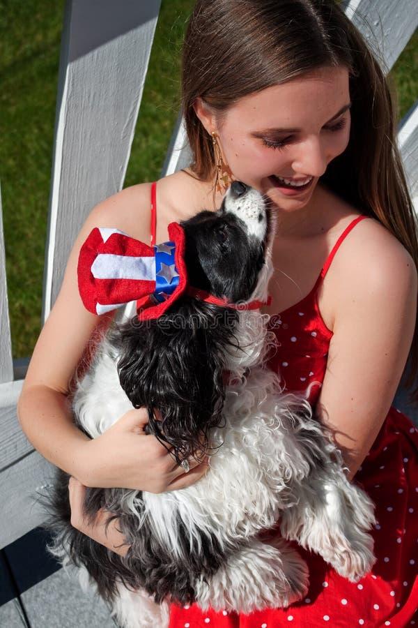 Dog Kisses stock photos