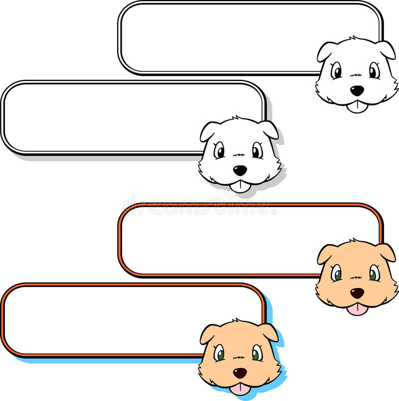 Download Dog and label 2 stock vector. Illustration of board, label - 25288031