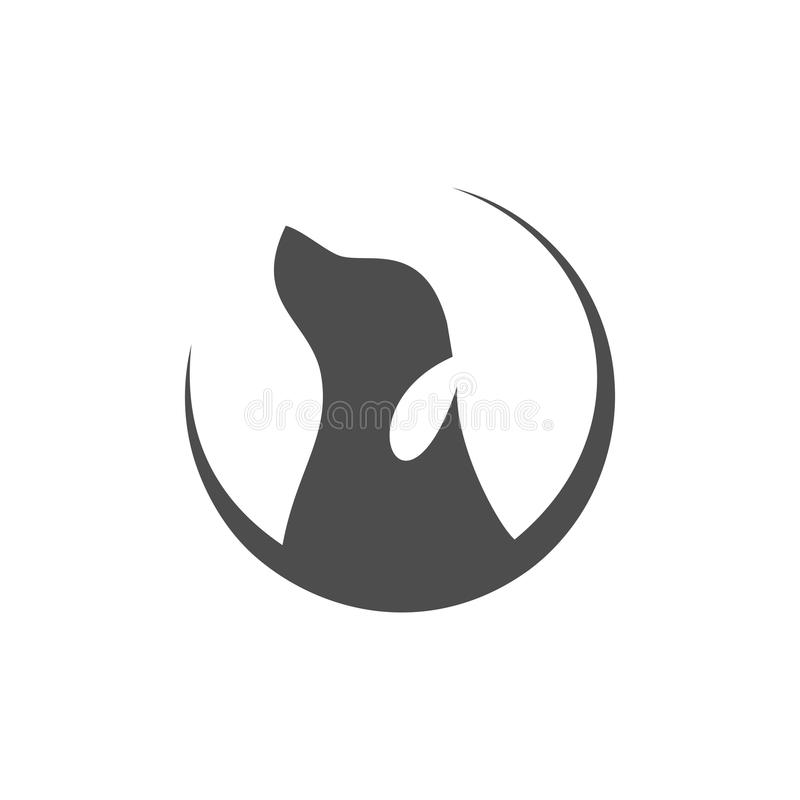 Dog logo royalty free illustration