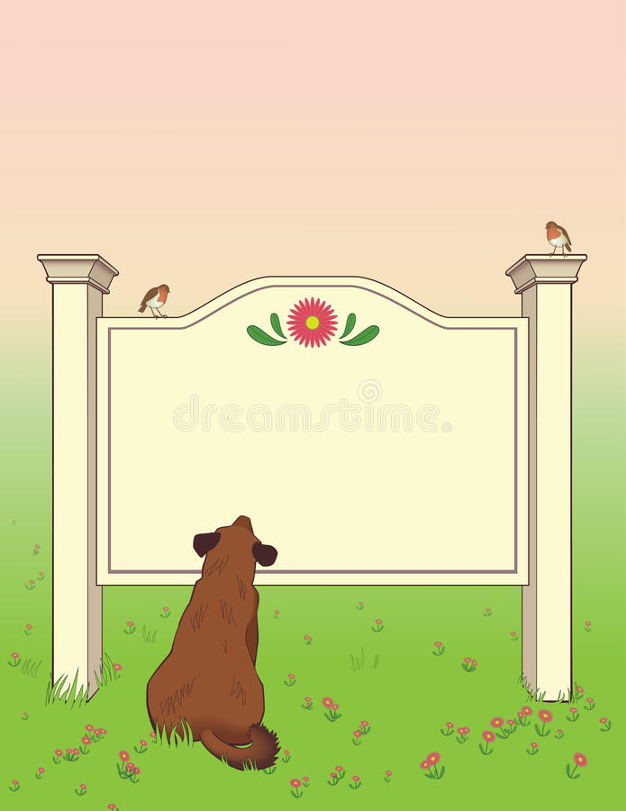 Dog Looking At Signboard Royalty Free Stock Photography