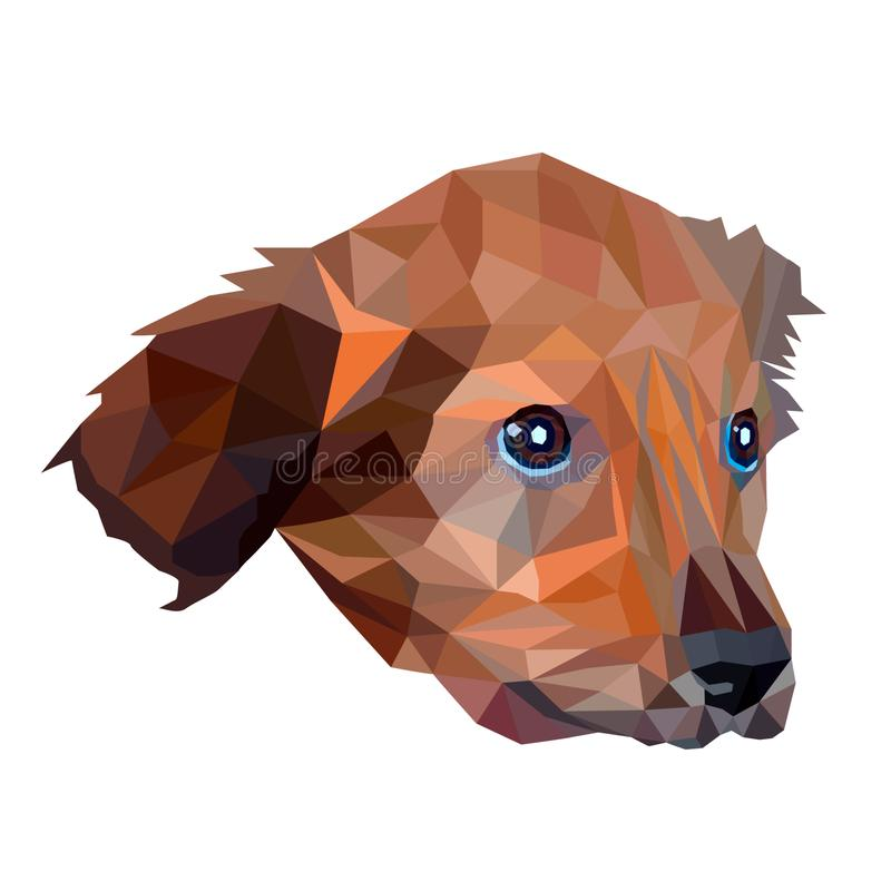 Dog Low Poly stock illustration