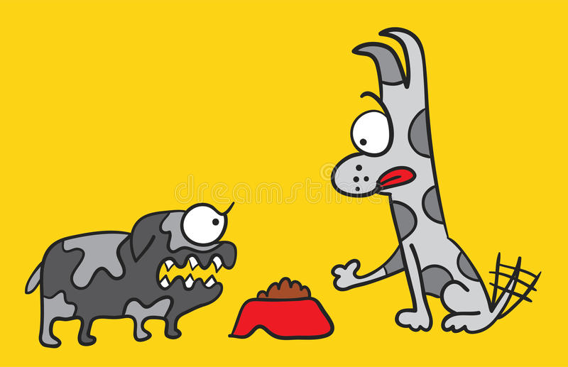 Dog lunch royalty free illustration
