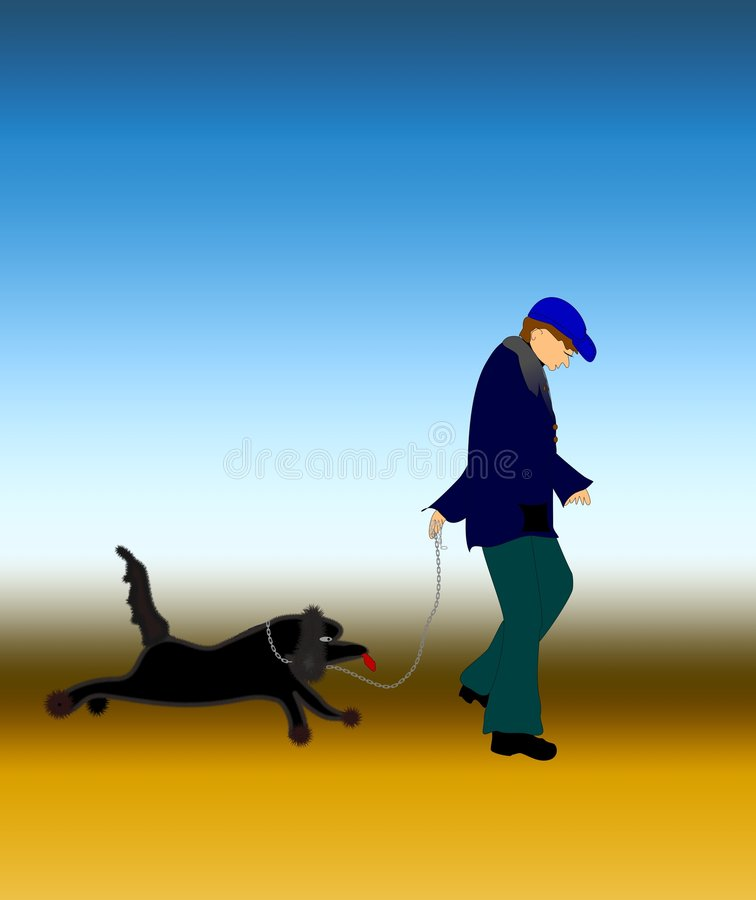 Download Dog and man stock illustration. Image of jumping, pets - 5678364
