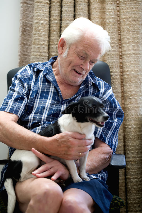 Download Dog and master stock image. Image of friendship, pensioner - 13850459