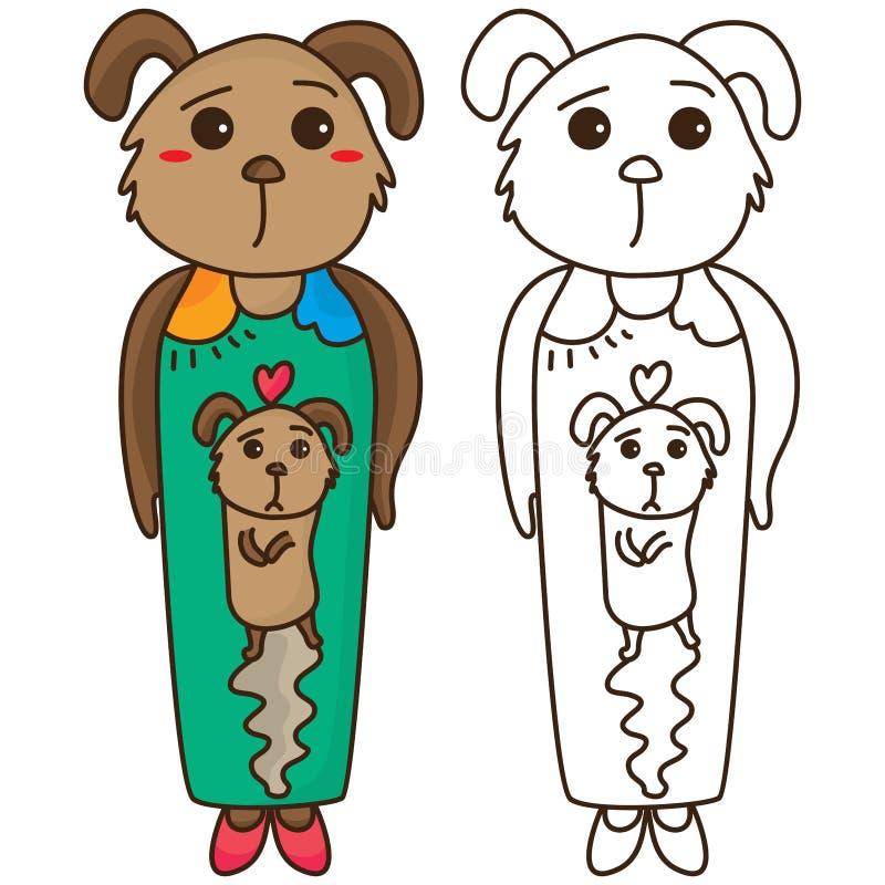 Dog mood coloring stock illustration