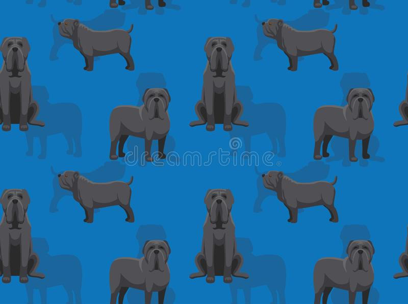 Dog Neapolitan Mastiff Cartoon Seamless Wallpaper vector illustration