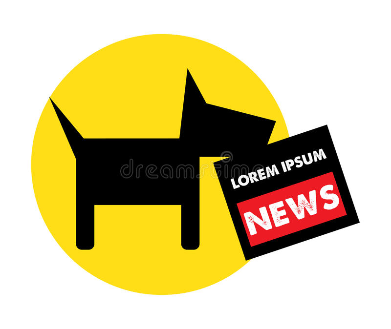 Download Dog And Newspaper Logo Concept Stock Vector - Image: 83703819