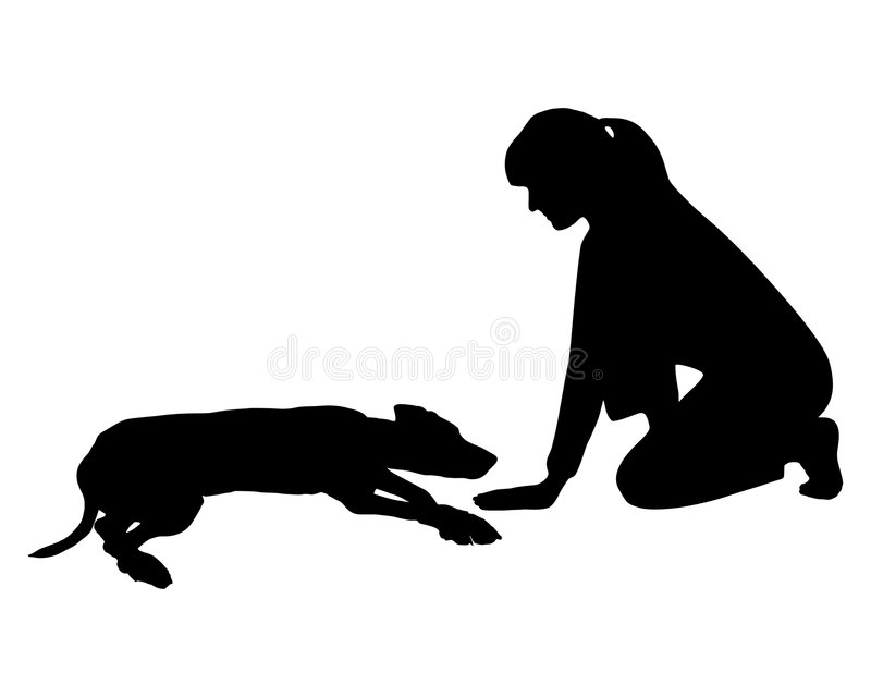 Download Dog obedience stock illustration. Illustration of woman - 7153579
