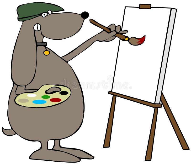 Dog Painter vector illustration