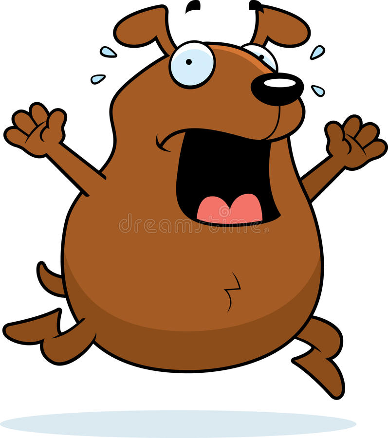Download Dog Panic stock vector. Image of scared, animal, running - 12537002