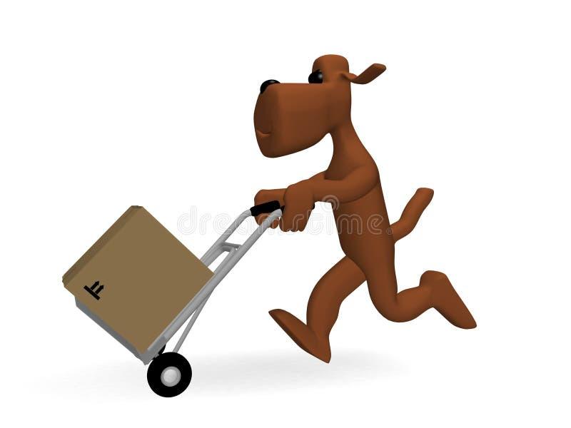 Download Dog parcels stock illustration. Image of parcels, delivery - 13361080