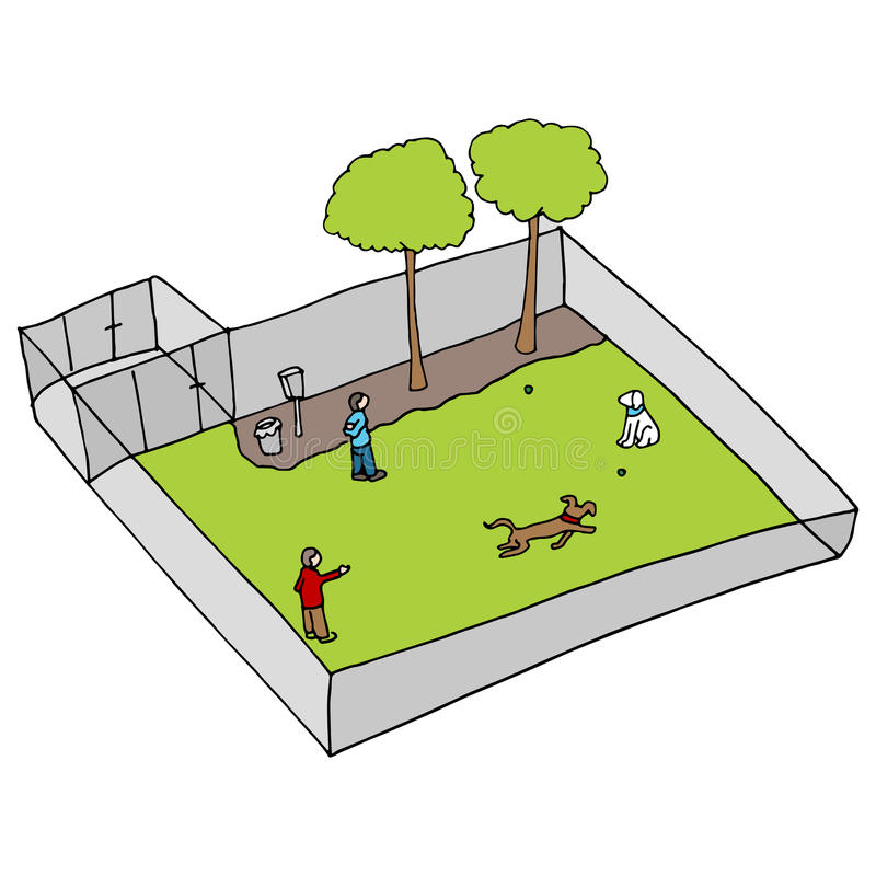Dog Park Stock Vector