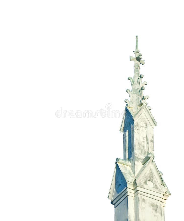 Weathered Historic Church Steeple. In Southern Maryland, St. Mary's County royalty free stock photo
