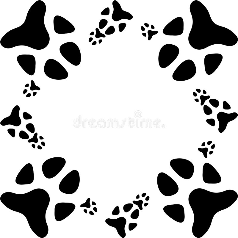 Dog paw print. A dog paw foot print stock illustration
