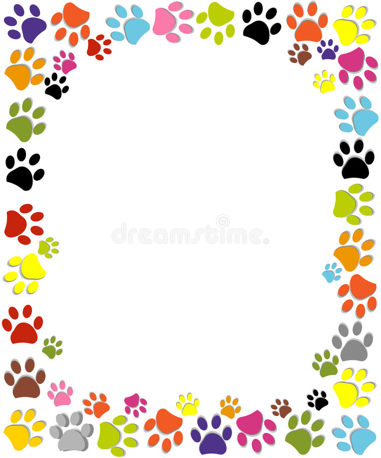 Dog Paw Print Made Of Red Heart Vector Illustration Stock Vector ...