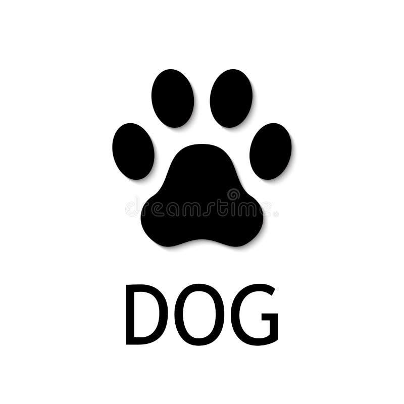 Dog paw print. Vector icon. Dog paw print. Footprint. Black vector icon vector illustration