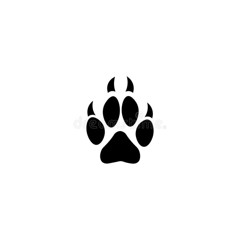 dog paw print vector icon stock vector illustration of track 97674659 rh dreamstime com dog paw print vector image dog paw print vector artwork