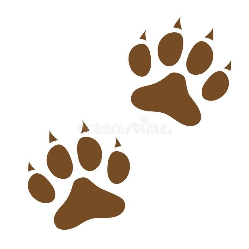Dog paw prints icon logo symbol. stock illustration