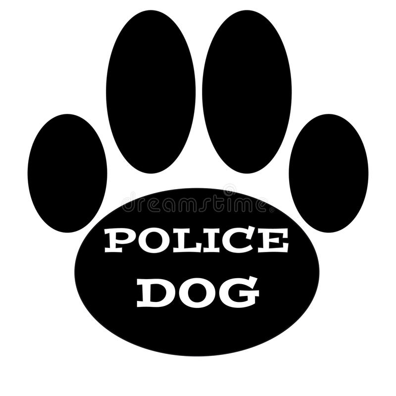 Download Dog Paw With Text Police Dog Stock Vector - Image: 83720960