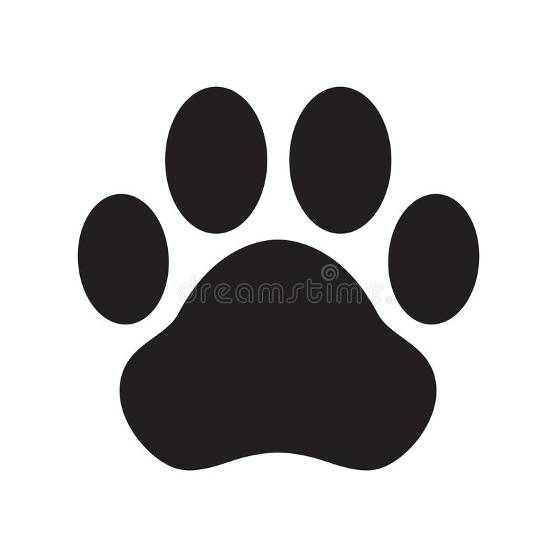 Dog paw vector icon logo cartoon character illustration french bulldog cat clip art. Dog paw vector icon logo cartoon character illustration cat clip art french vector illustration