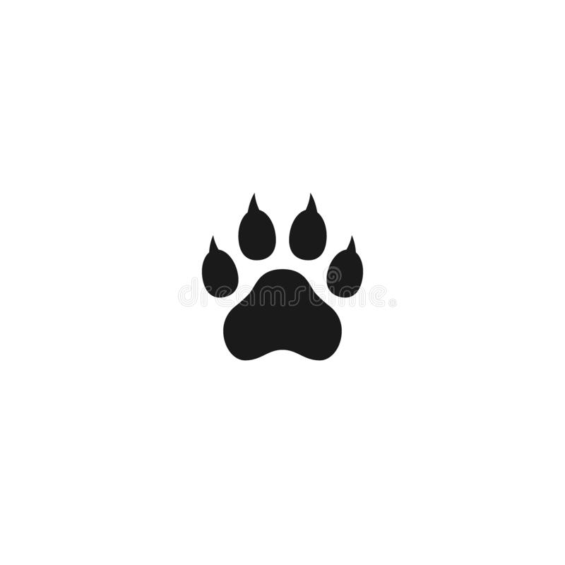 Free Dog Paw With Claws Vector Print Mark Stock Photos - 144620813