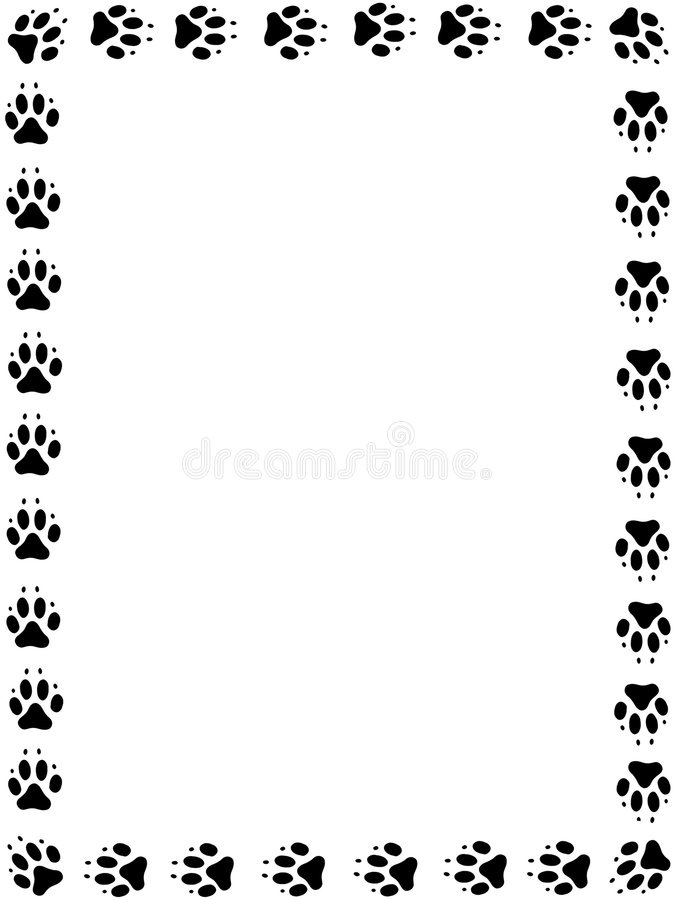 Dog pawprint frame vector illustration