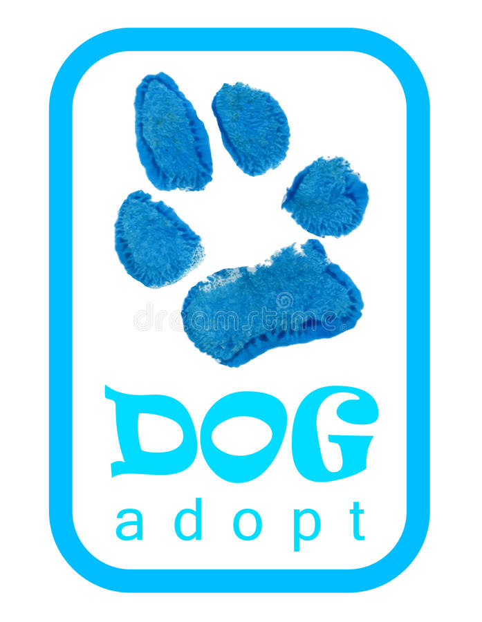Dog paws, adopt. Vector illustration royalty free illustration
