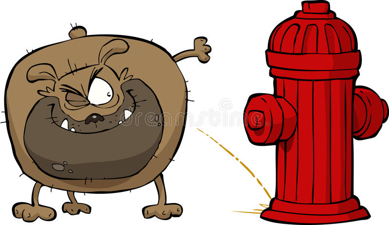 Download Dog pees stock vector. Image of pipe, fire, pressure - 27286516