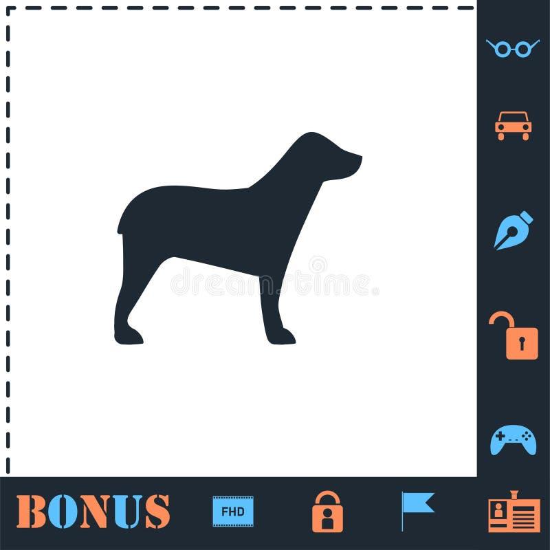 Dog icon flat stock illustration