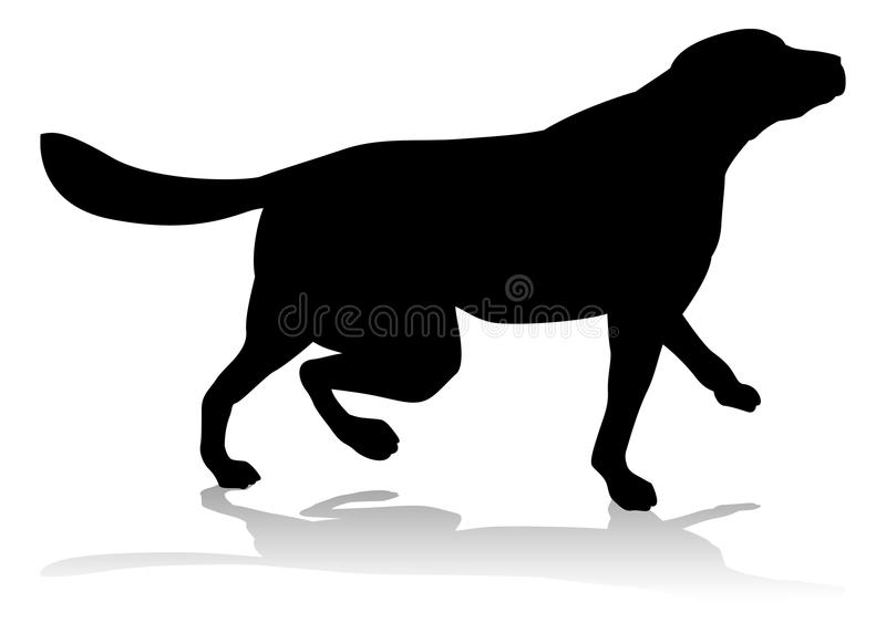 Dog Pet Animal Silhouette. An animal silhouette of a pet dog vector illustration