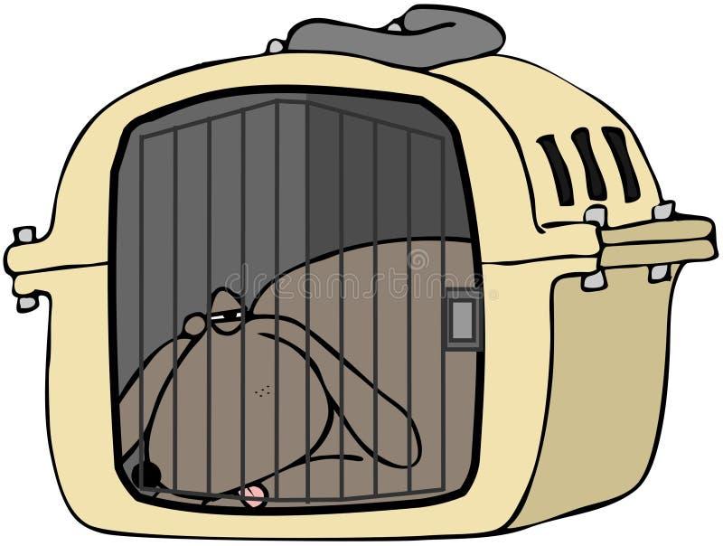 Download Dog In Pet Carrier stock illustration. Image of carrier - 24430617