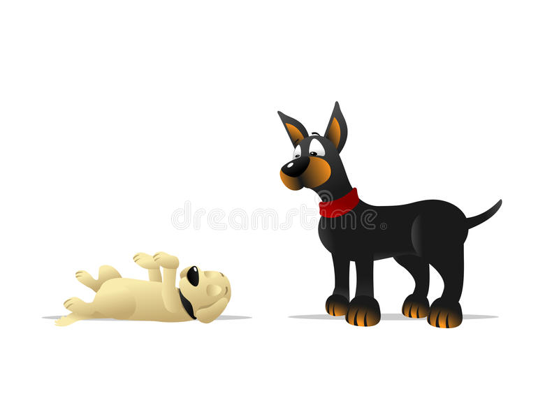 download dog playing dead stock vector illustration of dead confused 32280505