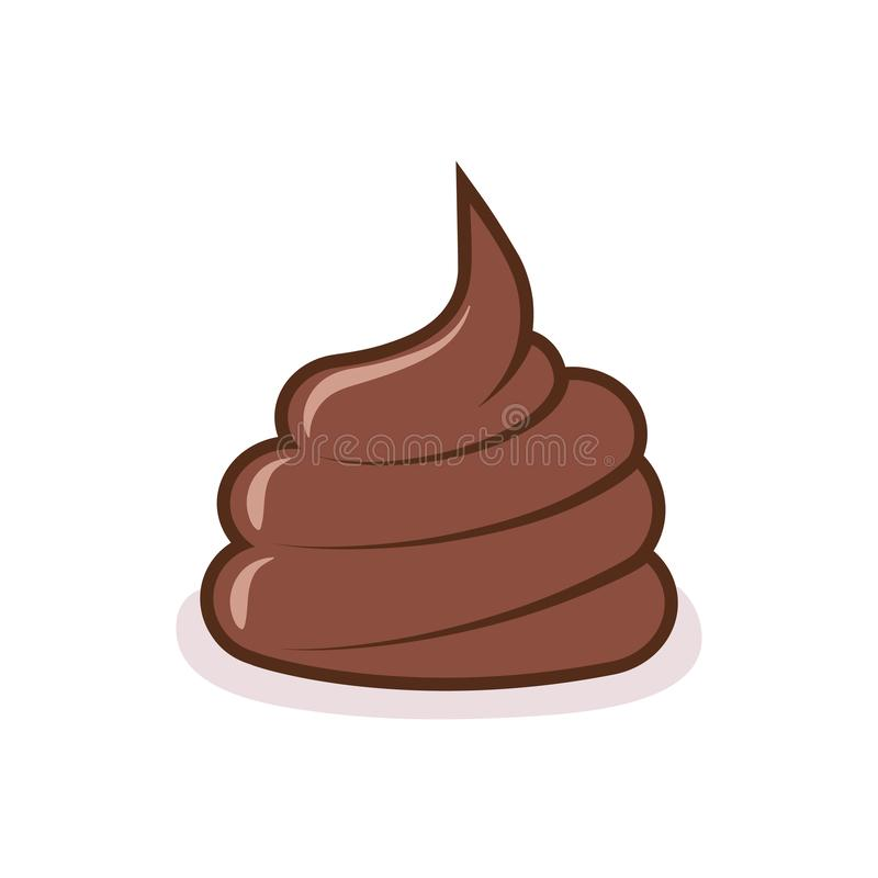 Free Dog Poop On The Ground. Brown Shit On White Background Stock Image - 141856581