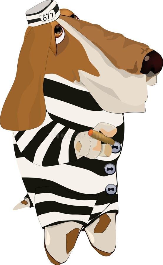Download Dog the prisoner stock vector. Image of begging, hopelessness - 12950157