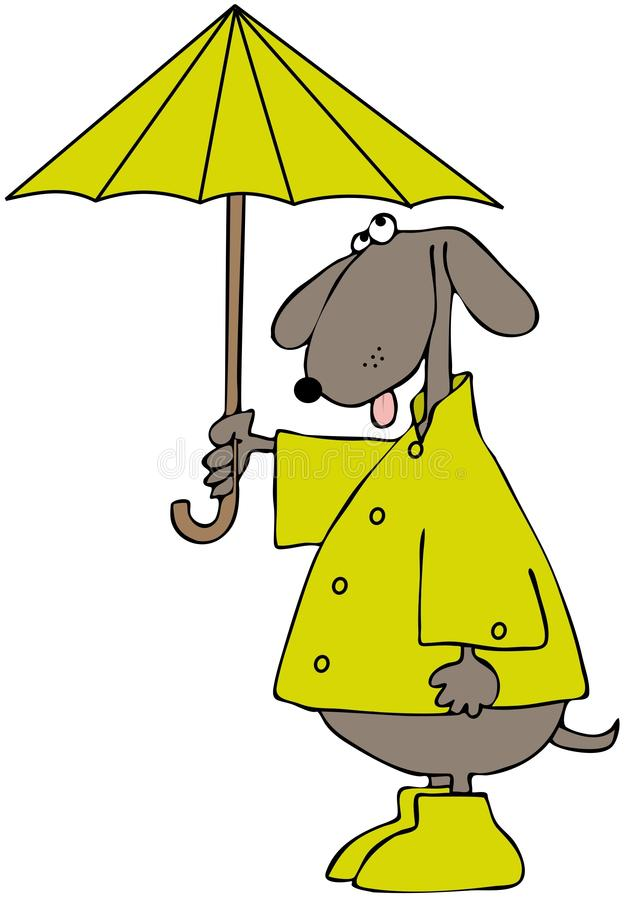 Download Dog In A Raincoat stock illustration. Image of tail, galoshes - 23594948