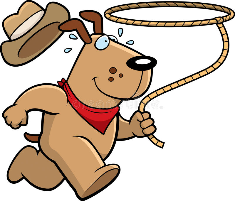 Download Dog Rodeo stock vector. Image of rope, lasso, animal - 15488399
