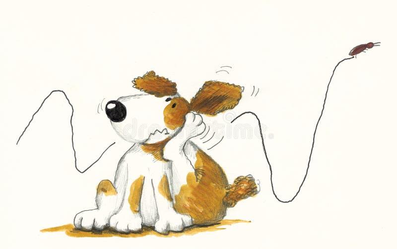 Dog Scratching stock illustration