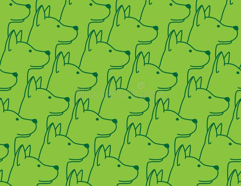 Dog Seamless Pattern vector puppy french bulldog hound wallpaper background isolated green royalty free illustration