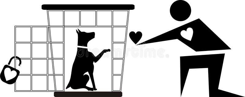 Dog shelter royalty free illustration