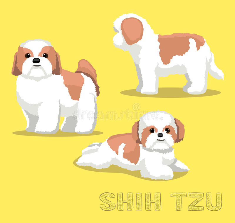 Dog Shih Tzu Cartoon Vector Illustration. Pet Character EPS10 File Format vector illustration