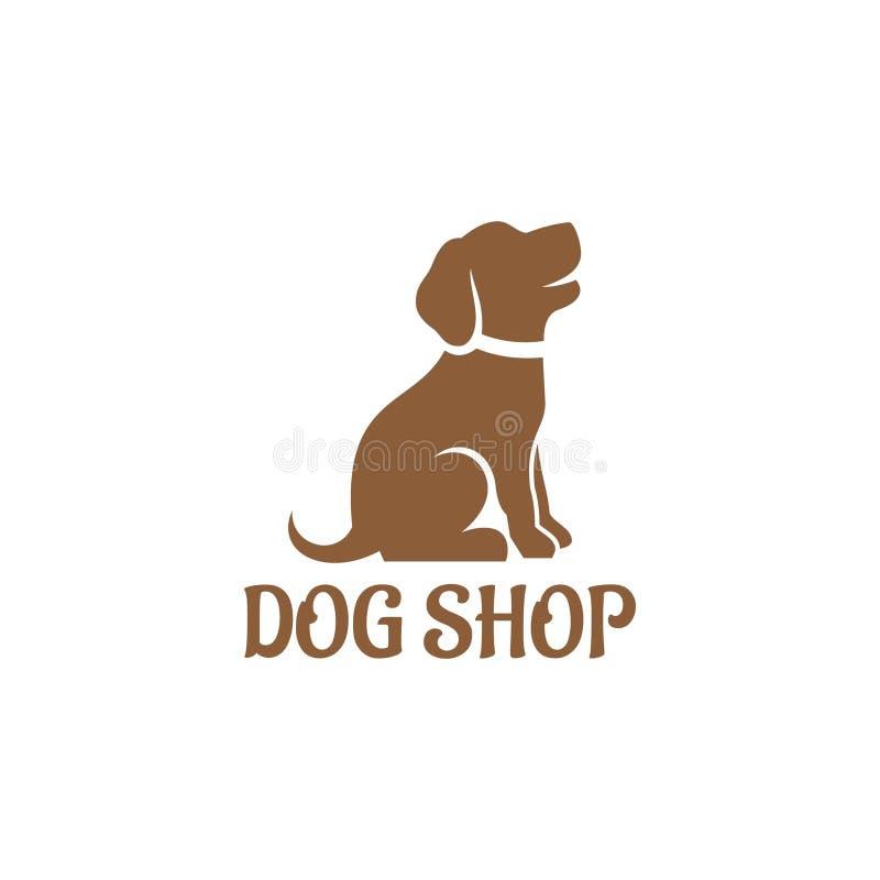 Dog shop logo vector template. Dog Logo design vector template. Home pets care veterinary clinic Logotype concept icon stock illustration