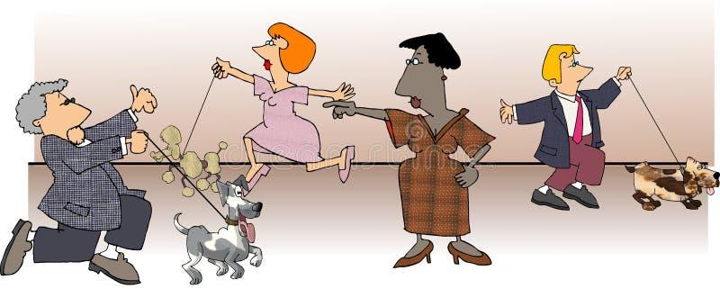 Download Dog Show stock illustration. Image of women, lady, leash - 46911