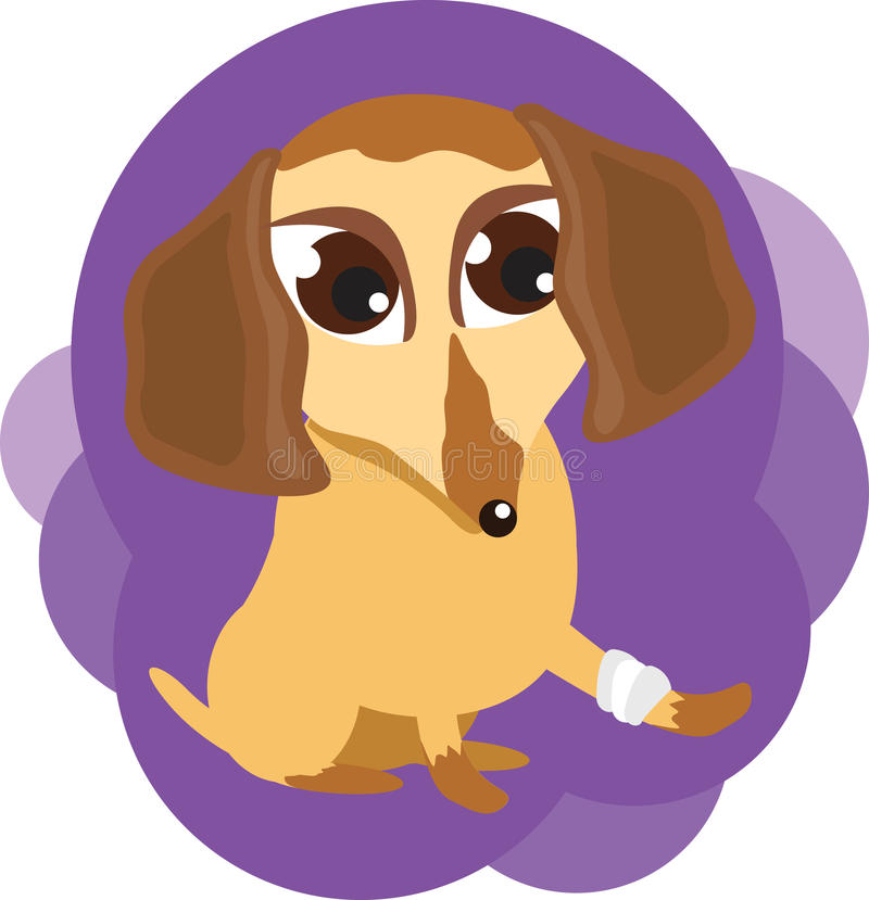 Download Dog with a sick leg stock vector. Illustration of characters - 17509262