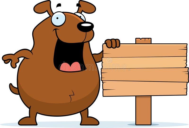 Download Dog Sign stock vector. Image of animal, cartoon, happy - 14060921