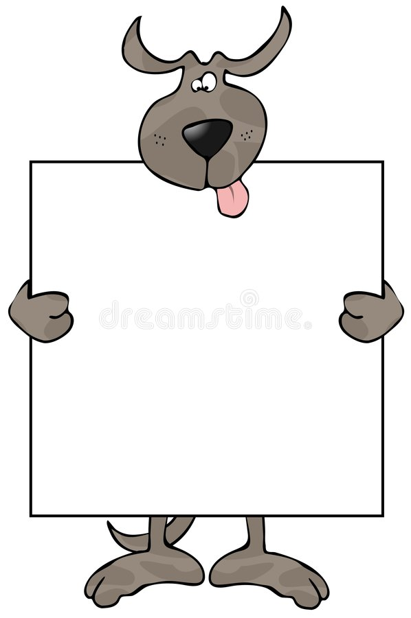 Dog Sign stock illustration