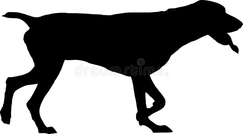 Dog silhouette. Illustration of a dog silhouette